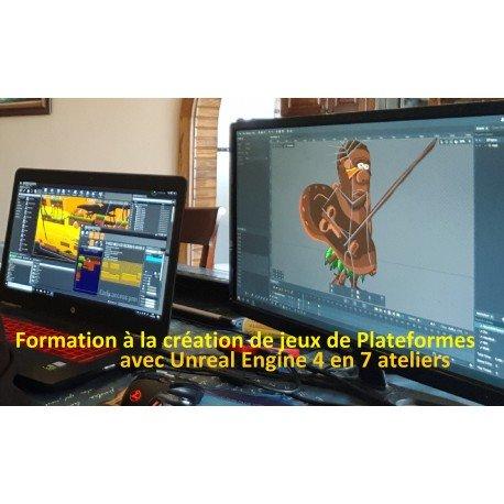 Formation à la création de jeux de plateformes sous Unreal Engine 4