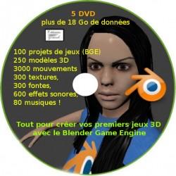 Pack de 5 DVD : Ressources Blender pour créer ses propres jeux 3D